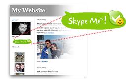 Индикатор статуса Skype на веб-странице